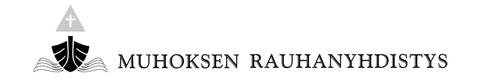 Muhoksen rauhanyhdistys Logo