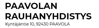 Paavolan Rauhanyhdistys ry Logo